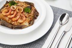 伟大的口味海鲜炒饭16 免版税图库摄影