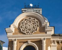 伟大的合唱犹太教堂在哥罗德诺,白俄罗斯 库存图片