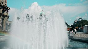 伟大的喷泉在市中心在贝尔格莱德 股票视频