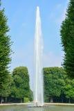 伟大的喷泉在Herrenhausen庭院里,汉诺威,德国 免版税库存照片