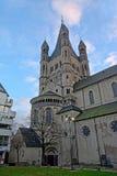 伟大的圣马丁教会,科隆香水 免版税库存图片