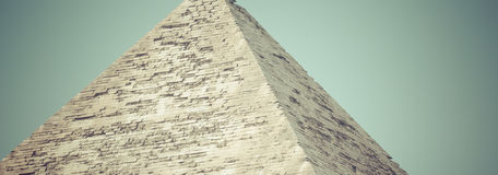 伟大的埃及金字塔在吉萨棉,开罗 库存图片