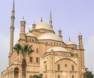 伟大的城堡,穆罕默德阿里城堡在开罗,埃及 免版税库存照片