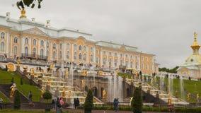 伟大的小瀑布在Peterhof 股票录像
