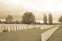 伟大的战争公墓富兰德比利时的战士 免版税库存照片