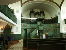 伟大的教会的内部在戈绍镇  免版税库存图片