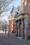 伟大的教会,吕伐登入口  免版税库存照片