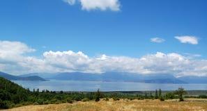伟大的普雷斯帕湖,马其顿 免版税库存图片
