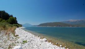 伟大的普雷斯帕湖,马其顿 免版税图库摄影