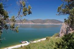 伟大的普雷斯帕湖,马其顿 库存图片