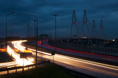 伟大的桥梁在圣彼德堡 库存照片