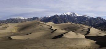 伟大的沙丘国家公园全景 免版税库存照片