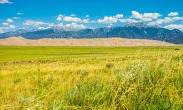 伟大的沙丘国家公园西南科罗拉多 免版税库存图片