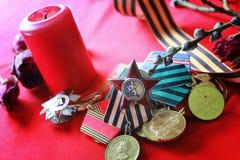 伟大的爱国战争奖牌 库存照片