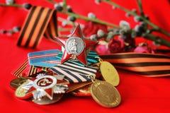 伟大的爱国战争奖牌 免版税库存照片