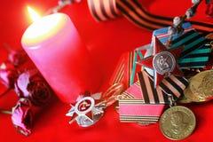 伟大的爱国战争奖牌 库存图片