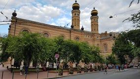 伟大的犹太教堂在布达佩斯 库存图片