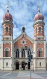 伟大的犹太教堂在比尔森 免版税图库摄影