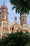 伟大的犹太教堂在Pilsen 库存照片