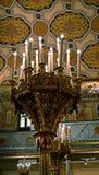 伟大的犹太教堂,布加勒斯特,罗马尼亚内部  图库摄影