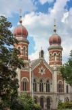 伟大的犹太教堂,比尔森 库存图片