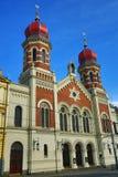 伟大的犹太教堂, od建筑学, Pilsen,捷克 图库摄影