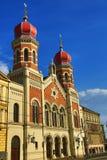 伟大的犹太教堂, od建筑学, Pilsen,捷克 库存照片