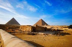 伟大的狮身人面象和金字塔,它是最老古老世界的七奇迹,并且仅一个保持主要原封 库存照片