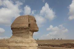 伟大的狮身人面象在吉萨棉 库存照片