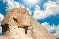 伟大的狮身人面象在吉萨棉 库存图片