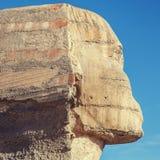 伟大的狮身人面象在吉萨棉 免版税库存图片