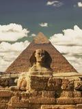 伟大的狮身人面象的美好的外形包括 免版税库存照片