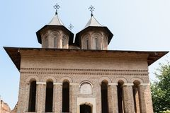 伟大的王侯的教会在Targoviste, Dambovita,罗马尼亚 库存图片