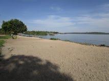 伟大的维多利亚湖 Nansio, Ukerewe,坦桑尼亚 库存照片