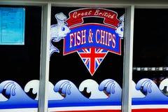 伟大的英国鱼&芯片 免版税库存照片
