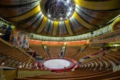 伟大的莫斯科状态马戏的空的大厅 免版税库存图片