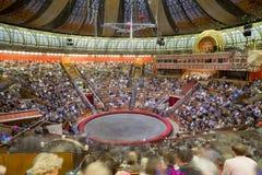 伟大的莫斯科状态马戏的竞技场 免版税库存图片