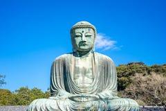 伟大的菩萨或Daibutsu在镰仓,日本 库存照片