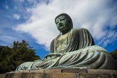 伟大的菩萨雕象Daibutsu在镰仓,日本 图库摄影