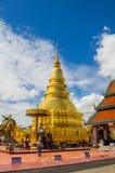 伟大的金黄stupa 库存照片