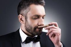 伟大的雪茄! 免版税库存图片