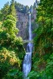伟大的马特诺玛瀑布,波特兰,俄勒冈美国 图库摄影