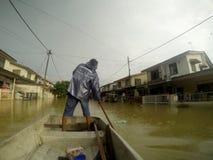 伟大的洪水罢工城市 库存照片