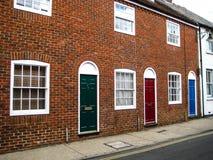 伟大的Britan的伦敦美丽的五颜六色的砖房子 图库摄影