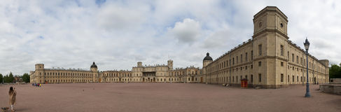 伟大的Gatchina宫殿的全景 库存照片