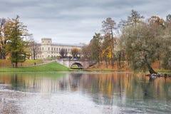 伟大的Gatchina宫殿,圣彼得堡的郊区 免版税库存图片