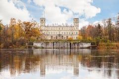伟大的Gatchina宫殿,圣彼德堡的郊区 免版税库存图片