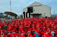 伟大的KidsCan圣诞老人奔跑奥克兰中央 库存照片