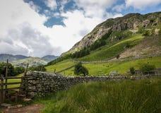 伟大的langdale scafell矛伟大的山墙 免版税库存照片