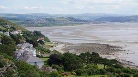 从伟大的Orme的Conwy海湾 免版税库存图片